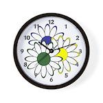 Flowers Are Fun Wall Clock