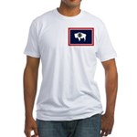 Wyoming State Flag Fitted T-Shirt