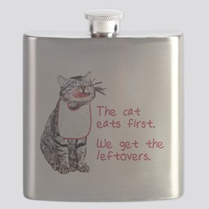 The cat eats first Flask