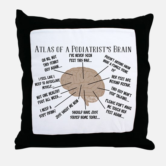 Cute Podiatry Throw Pillow