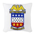 USS JONAS INGRAM Woven Throw Pillow