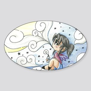 Konomoru Star Clouds Sticker (Oval)