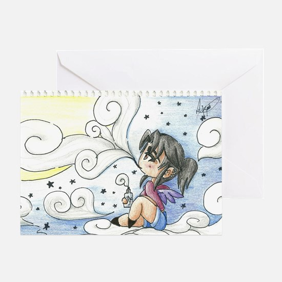 Konomoru Star Clouds Greeting Card