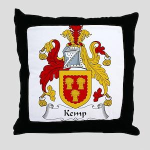 Kemp Family Crest Throw Pillow