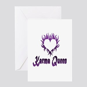 Karma Queen Greeting Card