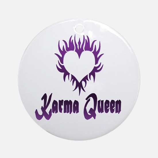 Karma Queen Ornament (Round)