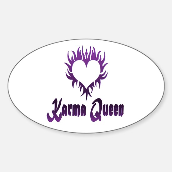 Karma Queen Sticker (Oval)