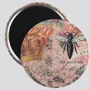 Vintage Queen Bee Collage Magnets