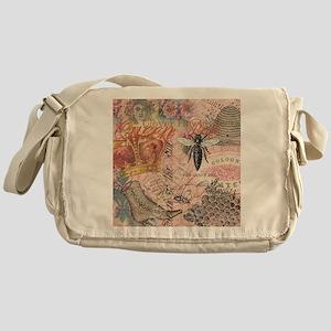 Vintage Queen Bee Collage Messenger Bag
