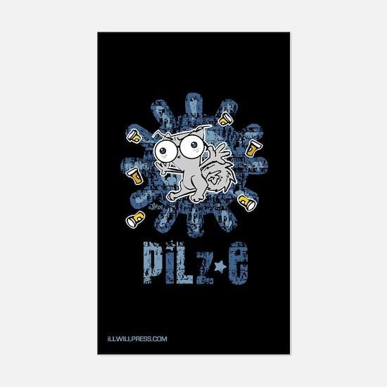 Pilz-e (Pills everywhere) Rectangle Decal