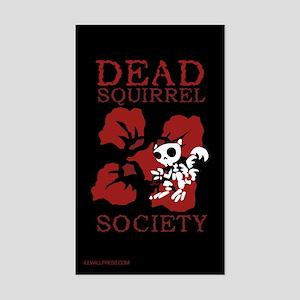 Dead Squirrel Society Rectangle Sticker
