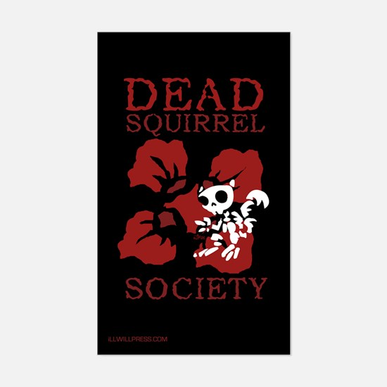 Dead Squirrel Society Rectangle Decal