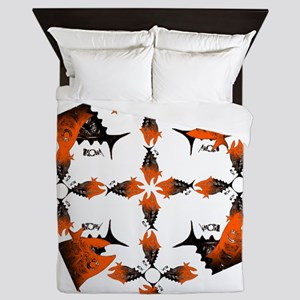 Super Retro Tuna Red. Fish Retro Tuna  Queen Duvet