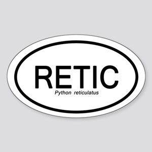 Python Reticulatus Sticker (oval)