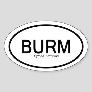 Python Bivittatus Sticker (oval)