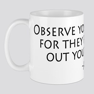 Observe Your Enemies Mug
