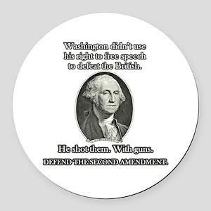 Washington Used Guns Round Car Magnet