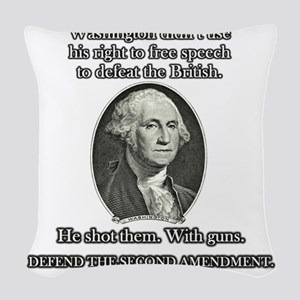 Washington Used Guns Woven Throw Pillow