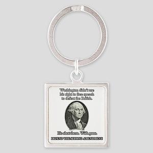 Washington Used Guns Square Keychain