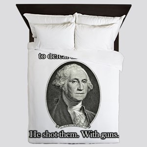 Washington Used Guns Queen Duvet