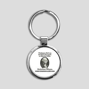 Washington Used Guns Round Keychain