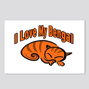Bengal Cat Postcards (Package of 8)