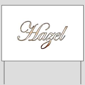 Gold Hazel Yard Sign