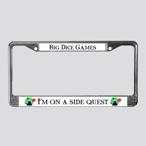 """Side Quest"" License Plate Frame"