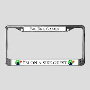 """Side Quest"" License Plate Frame"