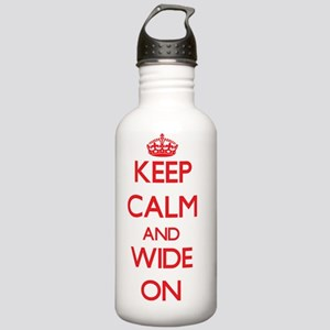 Keep Calm and Wide ON Stainless Water Bottle 1.0L