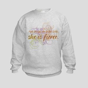 She is Fierce - Swirl Kids Sweatshirt