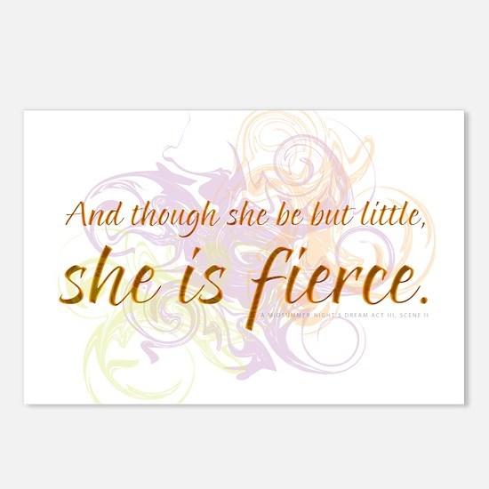 She is Fierce - Swirl Postcards (Package of 8)