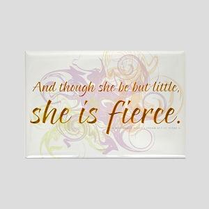 She is Fierce - Swirl Rectangle Magnet