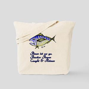 Tuna Caught & Release. Fish Retro Tuna RC Tote Bag