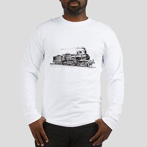 Vintage Steam Locomotive Long Sleeve T-Shirt