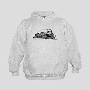 Vintage Steam Locomotive Kids Hoodie