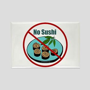 No Sushi Rectangle Magnet