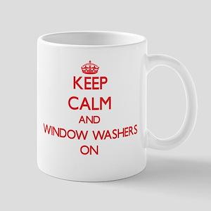 Keep Calm and Window Washers ON Mugs