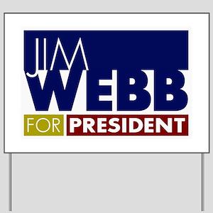 Jim Webb for President Yard Sign