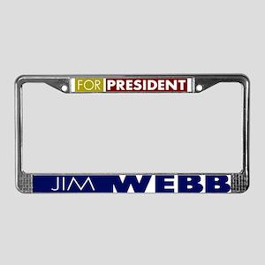 Jim Webb for President License Plate Frame