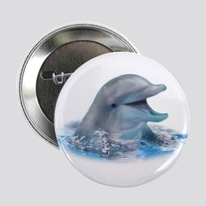 """Happy Dolphin 2.25"""" Button (100 pack)"""