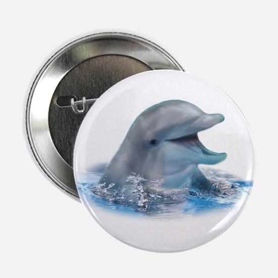 "Happy Dolphin 2.25"" Button (100 pack)"