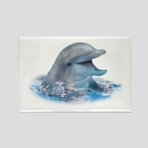 Happy Dolphin Rectangle Magnet (100 pack)