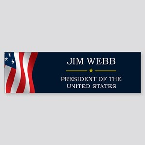 Jim Webb for President V3 Sticker (Bumper)