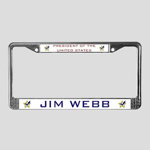 Jim Webb for President USA License Plate Frame