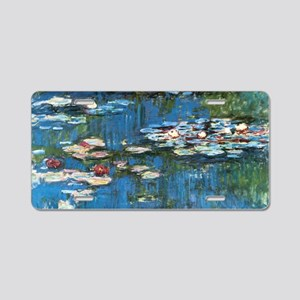 Waterlilies by Claude Monet Aluminum License Plate