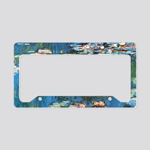 Waterlilies by Claude Monet, License Plate Holder