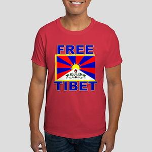 Free Tibet with Tibet Flag Dark T-Shirt
