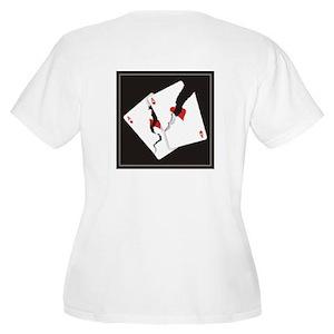 Cracked Aces Women's Plus Size Scoop Neck T-Shirt