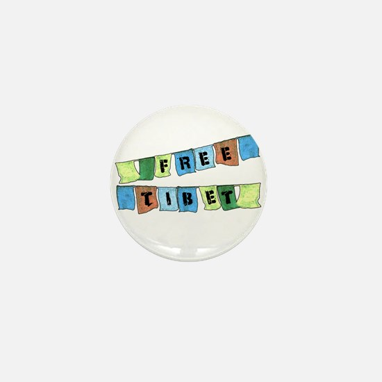 Free Tibet Prayer Flags Mini Button